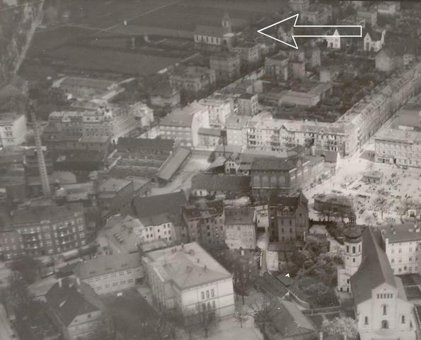 Fragment centrum przedwojennego Opola