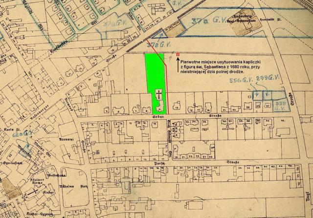 Fragment planu miasta Opola z 1933 roku