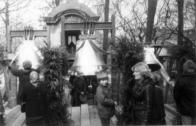 Plac kościelny, marzec roku 1979.