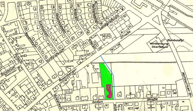 Fragment planu miasta Opola z 1943 roku